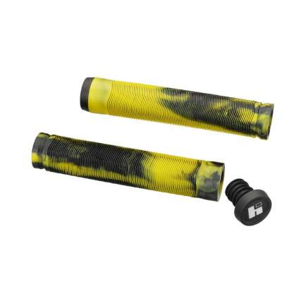 Грипсы HIPE H4 Duo, 155 мм black/yellow (250726)