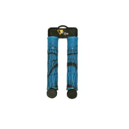 Грипсы Fox L-160, голубые-черные