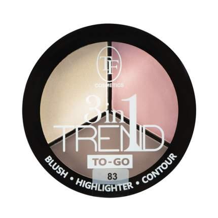 Палетка для контуринга лица TF Cosmetics Trend To-Go т.83