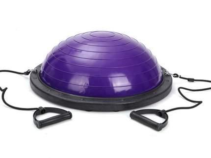 Полусфера гимнастическая надувная, с эспандерами и насосом, фиолетовая, Ø60 см