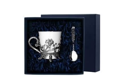 """Набор чашка чайная """"Цветочная""""+ ложка (2 предмета)"""