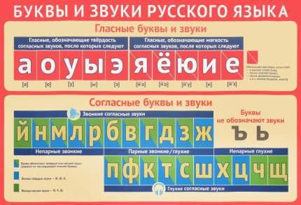 """Плакат А3 """"Буквы и звуки русского языка"""" (без упаковки)"""