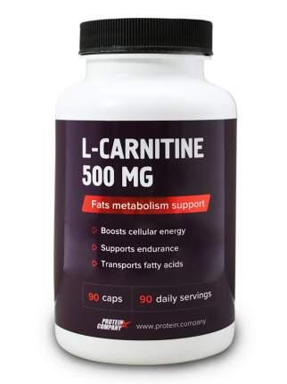 L-Carnitine 500 mg / PROTEIN.COMPANY / L-карнитин / Капсулы / 90 порций / 90 капсул