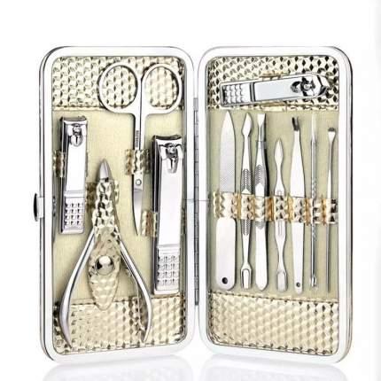 Маникюрный набор по уходу за ногтями в кейсе / серебристый