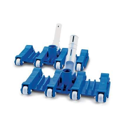 Щетка-насадка прямоугольная с колесами крепление зажим