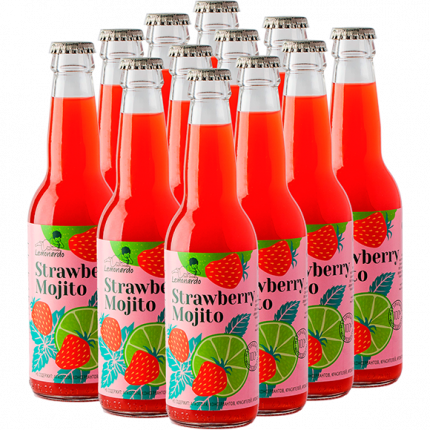 Натуральный безалкогольный клубничный мохито / Lemonardo Strawberry Mojito, 330мл. 12шт.