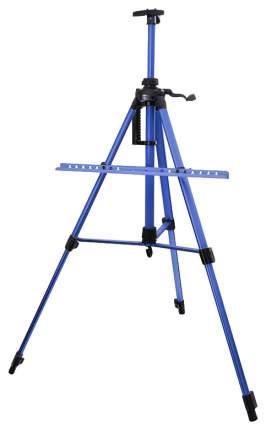 Мольберт телескопический в форме треноги, алюминиевый, цвет: синий