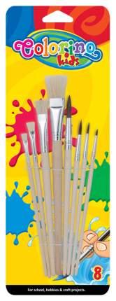 Набор кисточек для красок, 8 штук