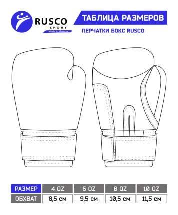 Боксерские перчатки Rusco Sport красные/черные 6 унций