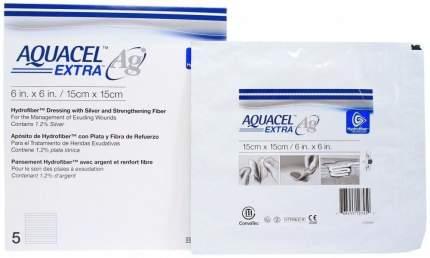 Aquacel Extra Ag / Аквасель Экстра с серебром - абсорбирующая повязка с серебром, 15x15 см