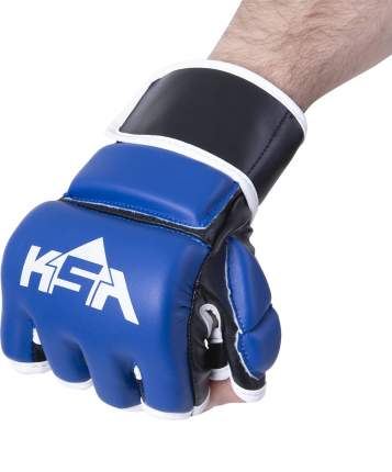 KSA Перчатки для MMA Wasp Blue, к/з, M