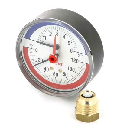 Аксиальный термоманометр 6 бар, 120С, диаметр 80мм, 1/2Н Uni-Fitt 310P2442