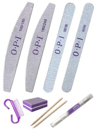 Пилки для ногтей OPI, Набор для маникюра, педикюра, абразив 100/180, 180/240