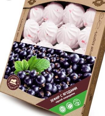 Петербургский КондитерЪ, Воздушный зефир с ягодами чёрной смородины Семейная упаковка 1кг