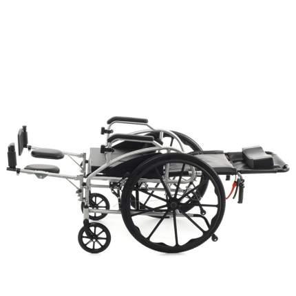 Кресло-коляска с откидной спинкой, туалетом, тормозами для сопровождающего MET 988