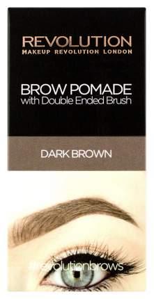 Помада для бровей Makeup Revolution Brow Pomade - Dark Brown 2,5 г