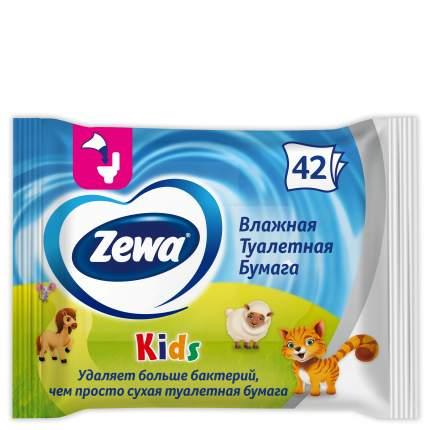 Туалетная бумага Zewa Детская, влажная, 42 шт.