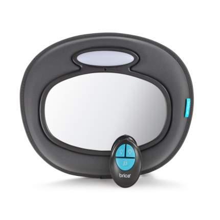 Зеркало муз. контроля за ребёнком в авто Brica munchkin night light baby in-sight mirror