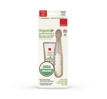 Набор зубной гель, 23 гр. + зубная щётка для щенков RADIUS