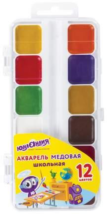 Краски акварельные Школьные 12 цв медовые без кисти