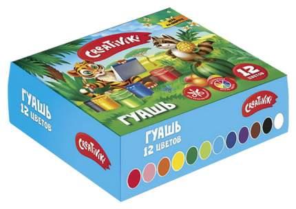 "Гуашь ""Creativiki"", 12 цветов по 10 мл"