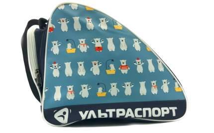 Сумка для коньков детская ULTRASPORT мишки-белые-голубой
