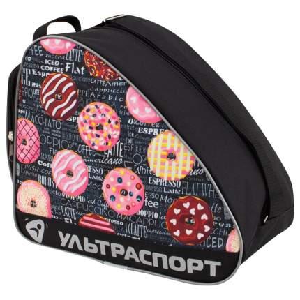 Сумка для коньков детская ULTRASPORT пончики-газета черная