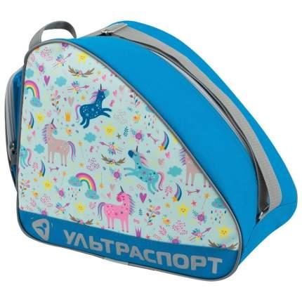 Сумка для коньков детская ULTRASPORT единороги синий