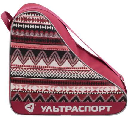 Сумка для коньков ULTRASPORT сканди-зигзаг бордо(S)