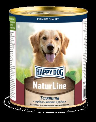 Влажный корм для собак Happy Dog Natur Line, с сердцем, печенью и рубцом,  0.97г