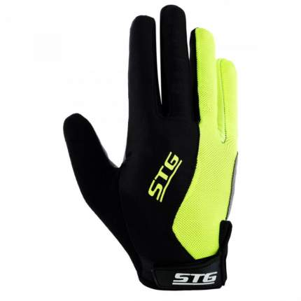 Велоперчатки STG 806, black/grey/yellow, M