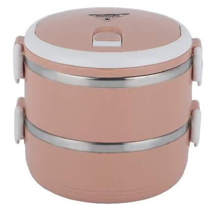 Термо ланчбокс MercuryHaus MC-6686 (60), розовый, 2-ярусный