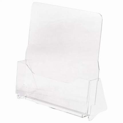 Подставка настольная для рекламных материалов (240х215х32 мм), А4, STAFF, 291172