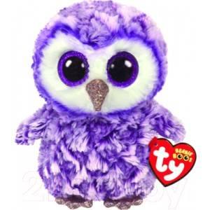 Мягкая игрушка TY Мунлайт сова фиолетовый 15см 36325