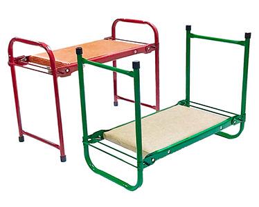 Садовая скамейка Волжаночка СП-001 зеленый, оранжевый 2 шт.
