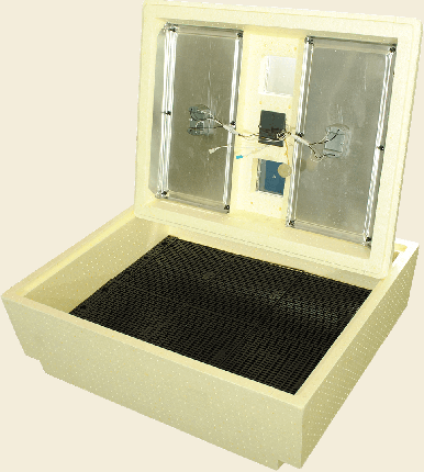 Инкубатор ручной Золушка на 100 яиц, бежевый