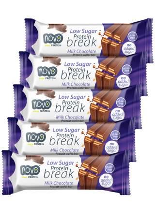 Протеиновые вафли Novo Protein Break Bar в  молочном шоколаде 5шт
