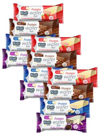 Протеиновые вафли Novo Protein Wafer Bar / Ассорти 12шт