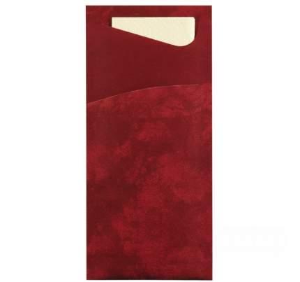 Конверт для столовых приборов Duni Bordeaux с салфеткой, 100 шт