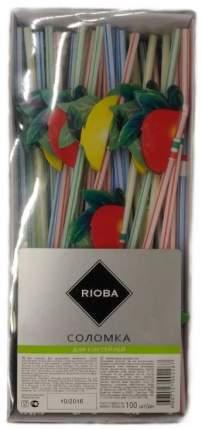 Трубочки Rioba для коктейля Фрукты праздничные, 100 шт