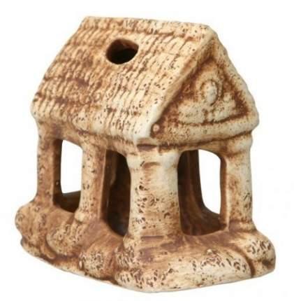 Декорация для аквариума, для террариума Орел Керамика Домик в деревне, керамика, 8х8х8.5см