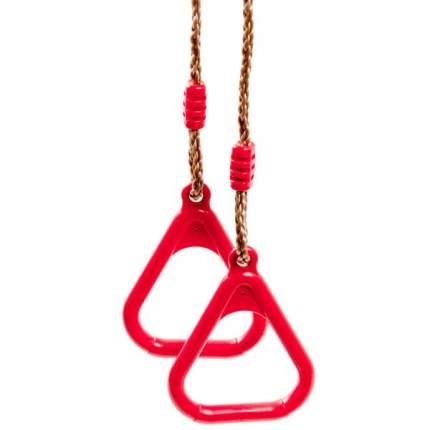 Кольца гимнастические на веревках, красный