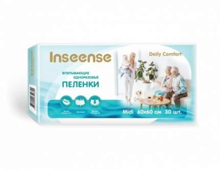 Пеленки INSEENSE Daily Comfort впитывающие одноразовые 60х60 30 шт.