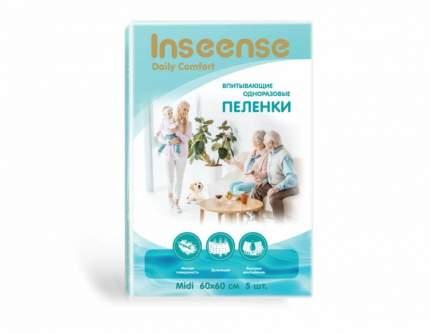 Пеленки INSEENSE Daily Comfort впитывающие одноразовые 60х60 5 шт.