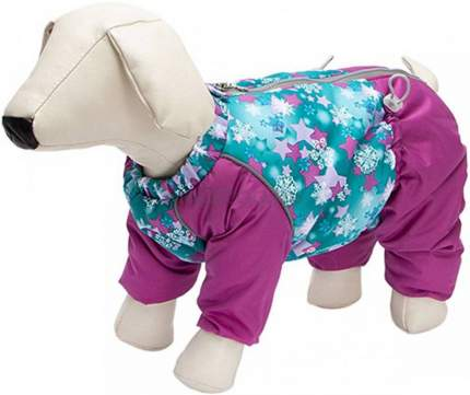 Комбинезон для собак OSSO Fashion Снежинка, женский, фиолетовый, 28, длина спины 28 см