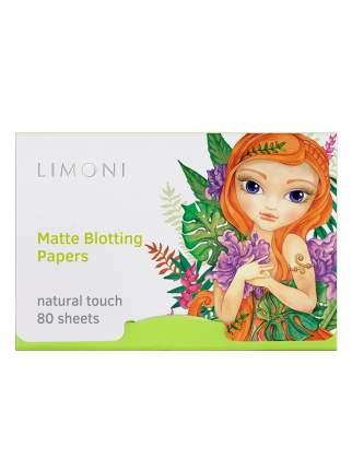 Салфетки матирующие для лица Limoni Matte Blotting Papers Green 80 шт