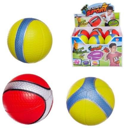 Мяч Junfa мягкий 11,5см в полоску в дисплее 12 шт WA-D7354