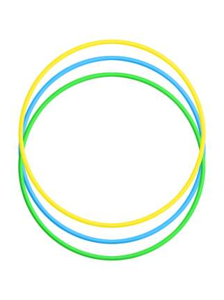 Набор детский игровой спортивный: Обруч 60 см. - 3 шт. (желтый, голубой, зеленый)