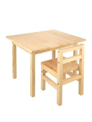 Комплект KETT-UP детский  стол+стул ECO ОДУВАНЧИК 50*60см, натур KU076.3