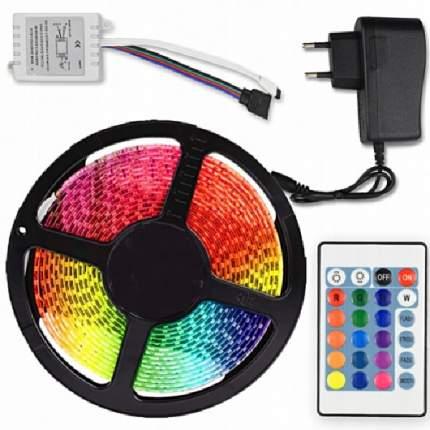 Светодиодная лента влагостойкая LED SMD 3528 5m с пультом д/у RGB IP65 12V (Цветная)